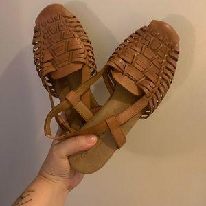 Comfortiva Huarache Pillowtop Sandals